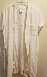SECRET TREASURES white terry cloth robe 1X NWOT